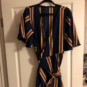 Shein striped midi dress, size 3xl